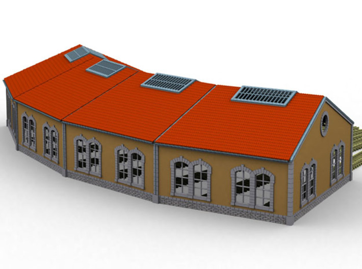 NRot10 - Railway roundhouse 3d printed
