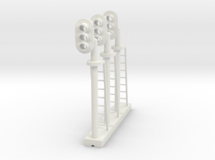Block Signal 3 Light LH (Qty 3) - HO 87:1 Scale 3d printed
