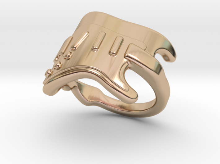 Electric Guitar Ring 33 - Italian Size 33 3d printed