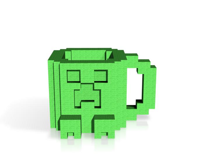 Minecraft Creeper Mug 3d printed