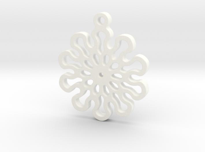 Lotus 10 Mandala Pendant 3d printed
