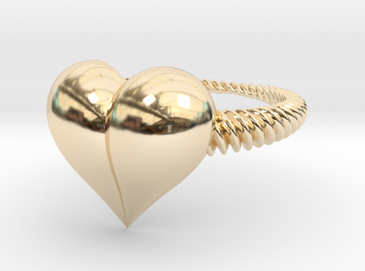 Size 6 Heart Ring 3d printed