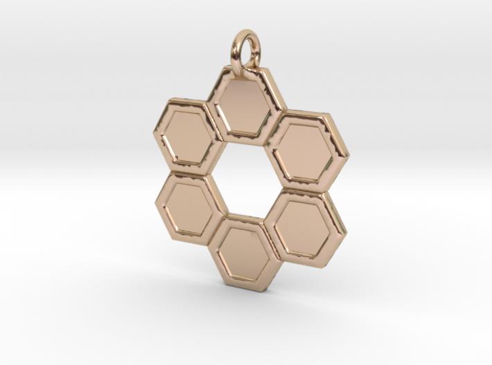 Honeycomb Ring Pendant 3d printed