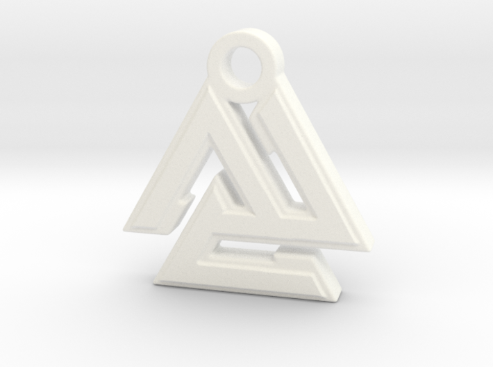 Valknut Pendant 3d printed
