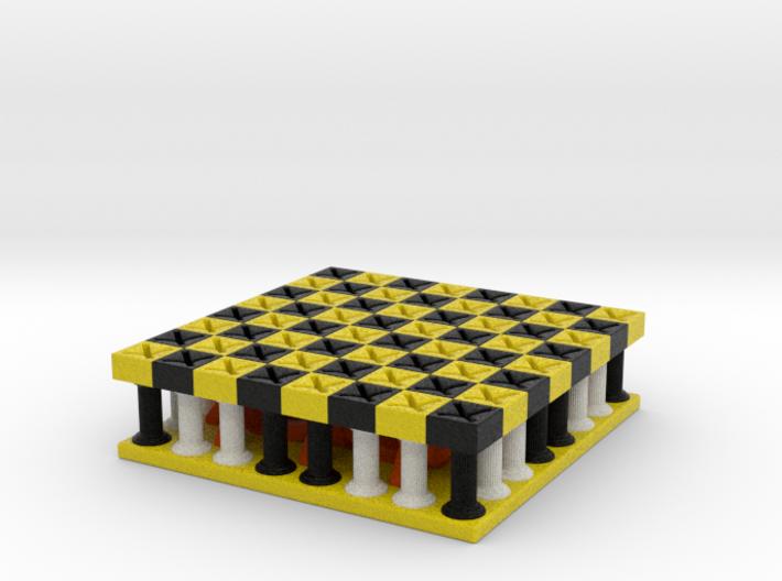 Galaxy Chess Board 3d printed