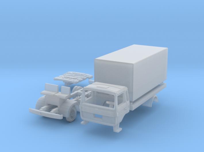 Vierer-Club-LKW Koffer (TT 1:120) 3d printed