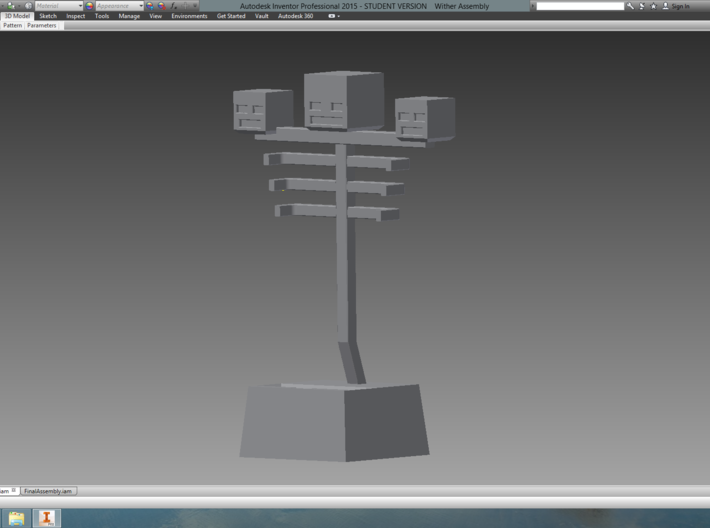 Wither Phone Stand 3d printed