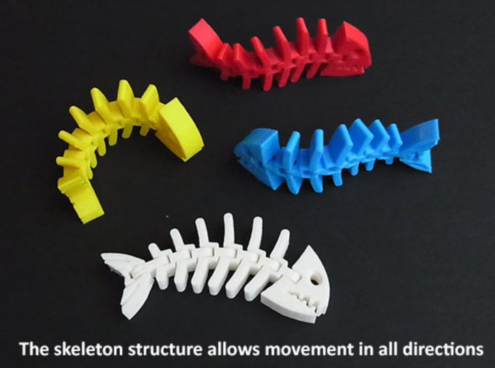 Fish Skeleton 3d printed
