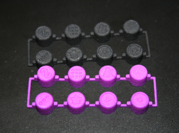PO-20 control buttons 3d printed