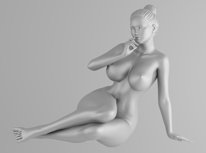 Plump sexy girl 002 Scale in 1/10 3d printed