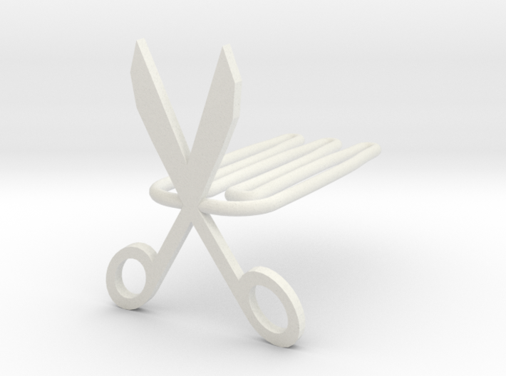 Scissors for beard - front wearing 3d printed