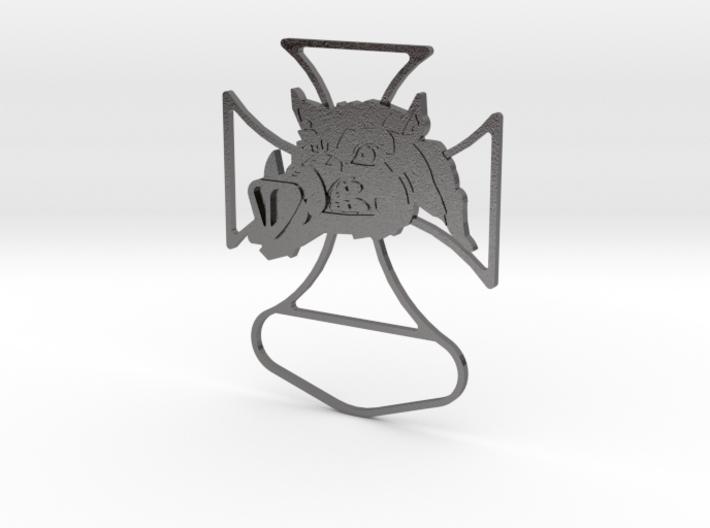 Renegade Pigs Motorcycle Club Badge frame loop v2 3d printed