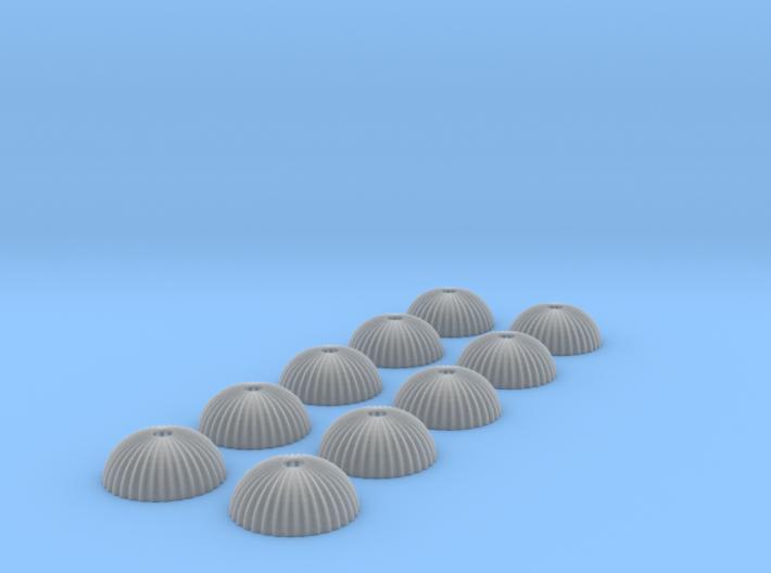 1/500 scale army parachute para Fallschirm 10 of 3d printed
