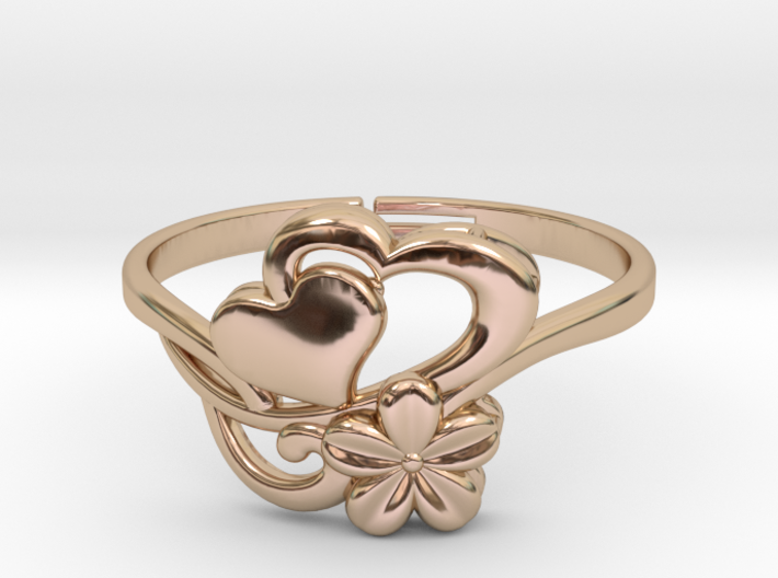 Flower Ring 1  3d printed