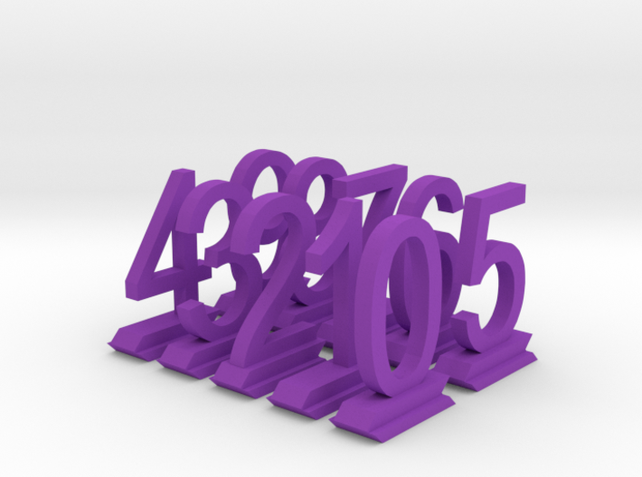 Table Number Digits 0-9 3d printed