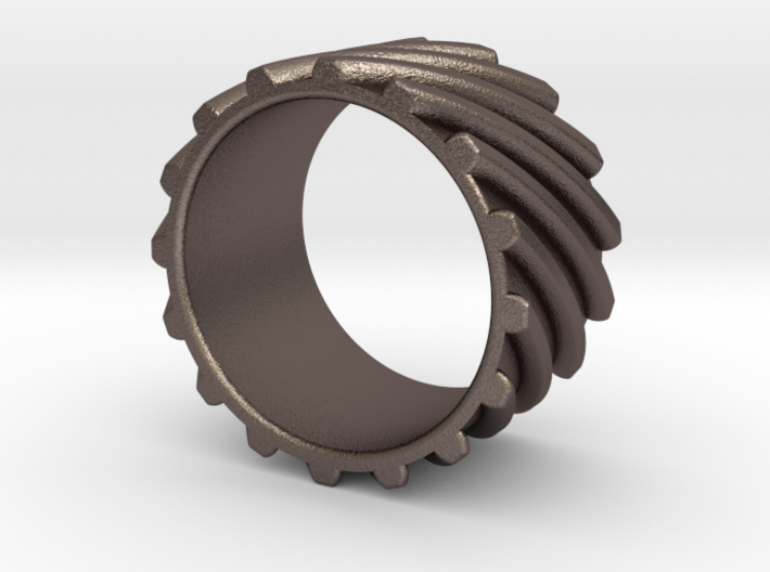 Helical Gear Ring US Size 10 3d printed