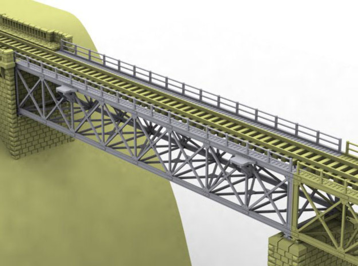 NV4M12 Modular metallic viaduct 1 3d printed