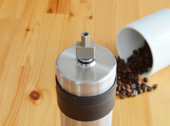 Coffee Grinder Bit For Drill Driver CDS-S 3d printed With Porlex Mini Stainless Steel Coffee Grinder