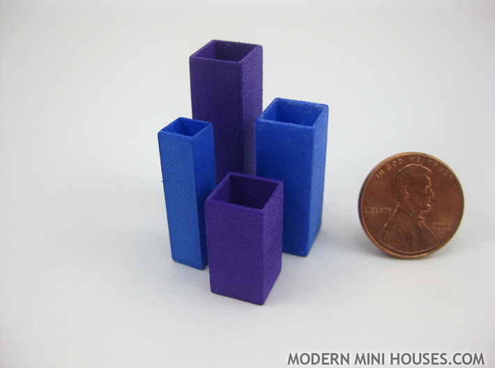 Tower Vase Medium 1:12 scale 3d printed