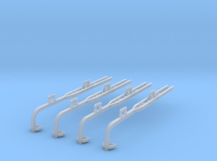 4x gebogene doppelte Ausleger für Winkelmast (N) 3d printed