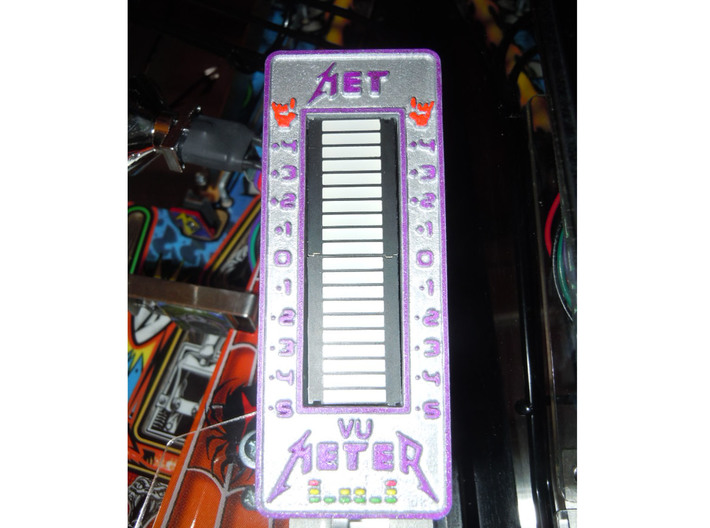 Met Style VU Barmeter Case 3d printed Painted and installed on a pinball machine.