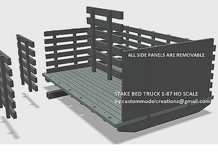 Stake Bed Truck Wood Style Deck 1-87 HO Scale 3d printed