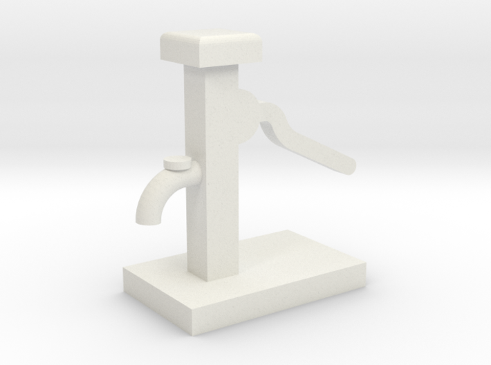Hand Water Pump - HO 87:1 Scale 3d printed