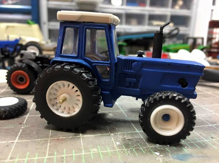 1/64 8830 Ford tractor rear wheels 3d printed