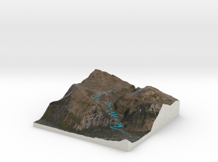 Alpe d'Huez 3D Full Color 3d printed