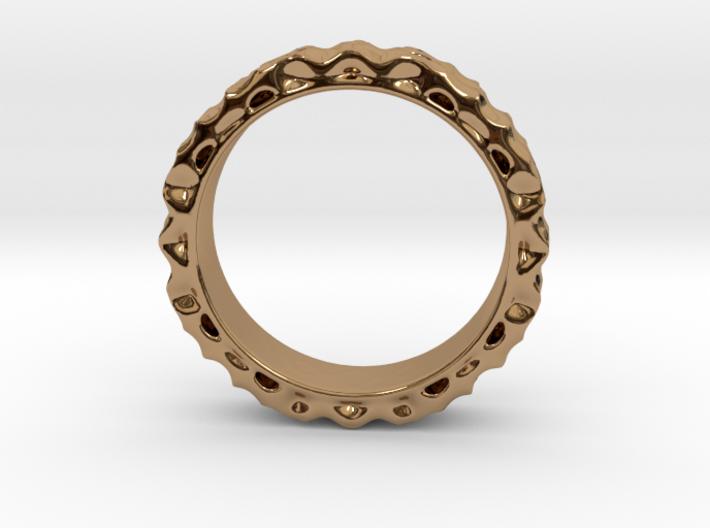 ShapeJS Volume Pattern Ring 3d printed