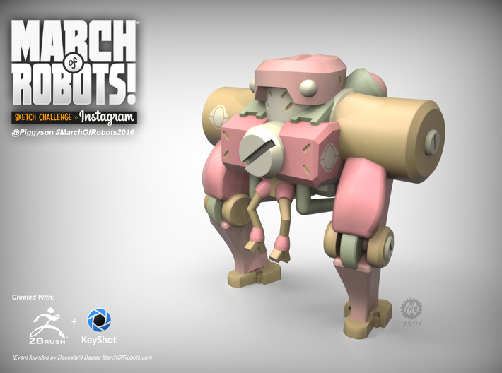 March 15 Robot 3d printed