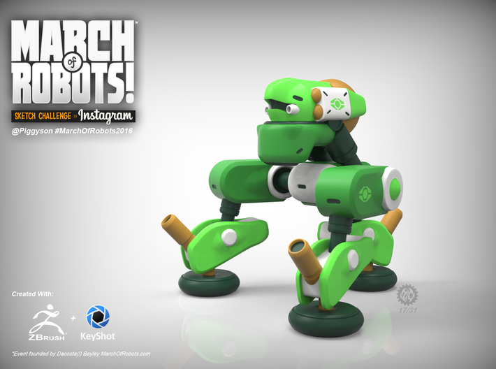 March 17 Robot 3d printed