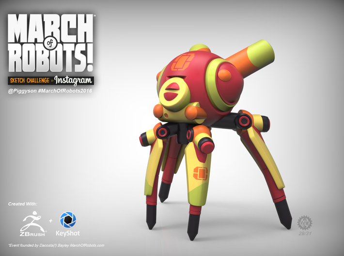 March 29 Robot 3d printed