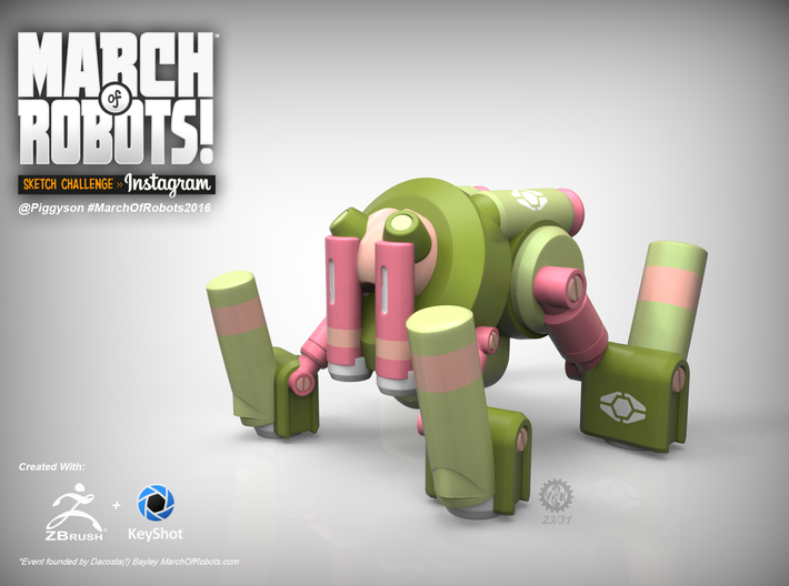March 23 Robot 3d printed