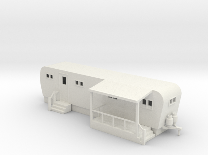 Trailer Mobile Home 30ft - HO 87:1 Scale 3d printed