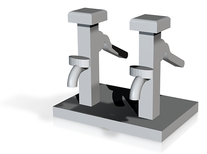Hand Water Pump Qty 2 - N 160:1 Scale 3d printed