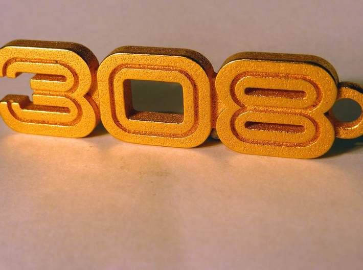 KEYCHAIN LOGO 308 3d printed De luxe keyring with the Ferrari 308 logo
