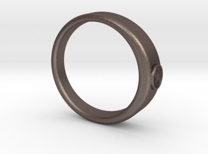 Ø0.707 inch/Ø17.97 mm Tree Of Life Ring 3d printed