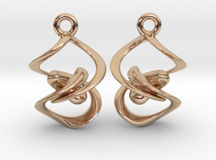 Vortex Flame Earring Set 3d printed