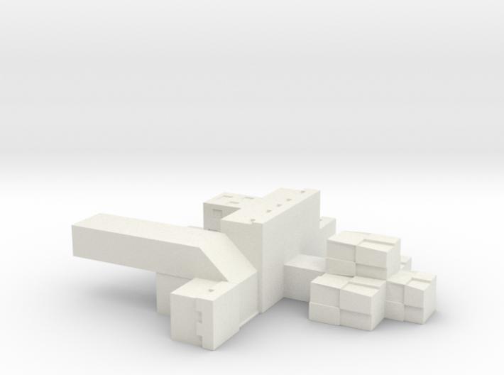 MC Floating Island Wallmount 3d printed