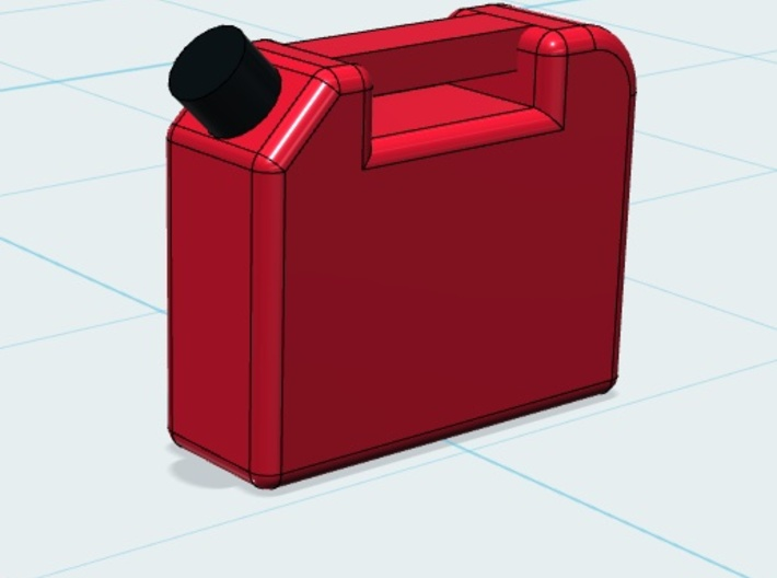 Gas Can (4PK) 1-87 HO Scale 3d printed