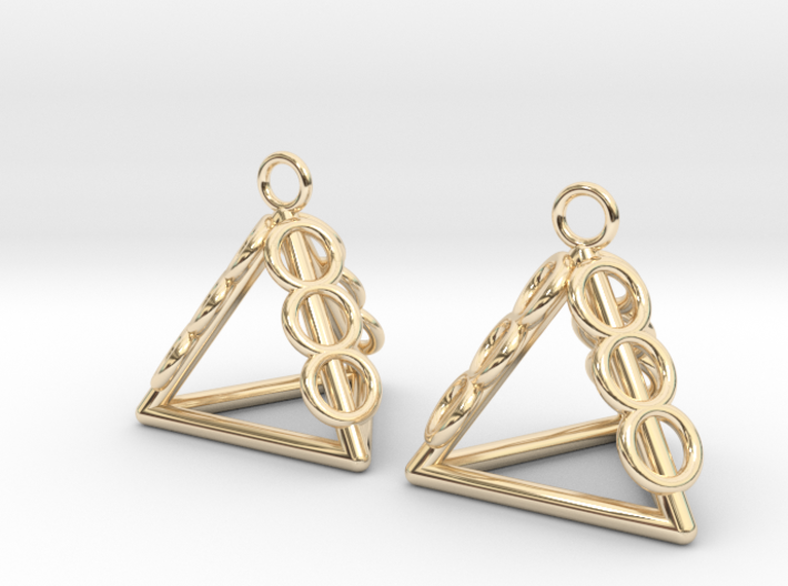 Pyramid triangle earrings serie 3 type 1 3d printed