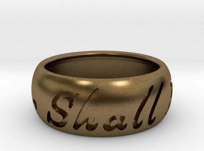 This Too Shall Pass ring size 9.5 3d printed