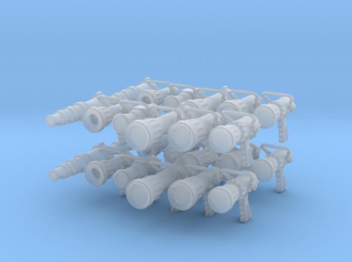 Nozzle set (4 ea)(1/24 scale) 3d printed
