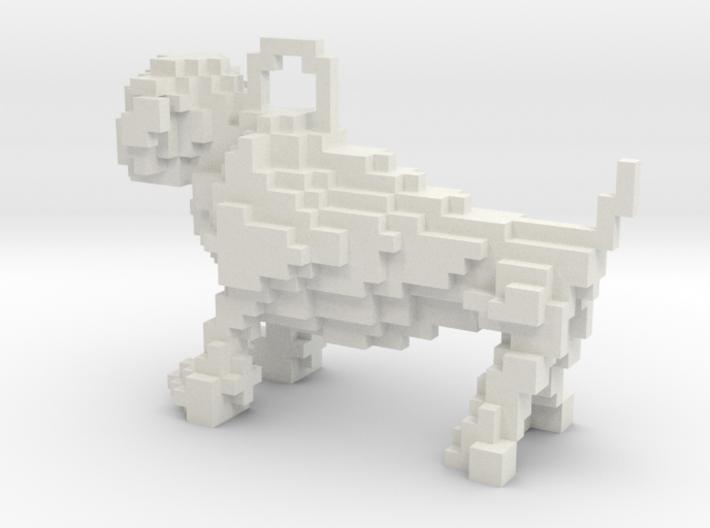 Minecraft Bulldog Keychain 3d printed