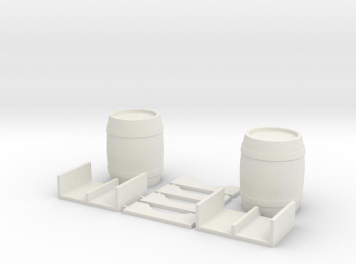 Dual Barrels And Cradles #1 3d printed