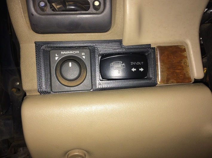 Land Rover Discovery 2 carling mirror switch 3d printed