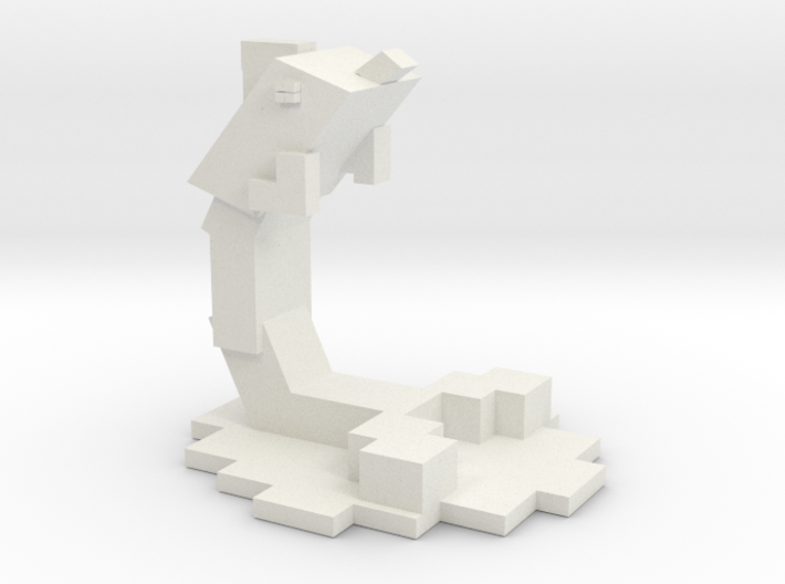Minecraft Inspired Dolphin 3d printed