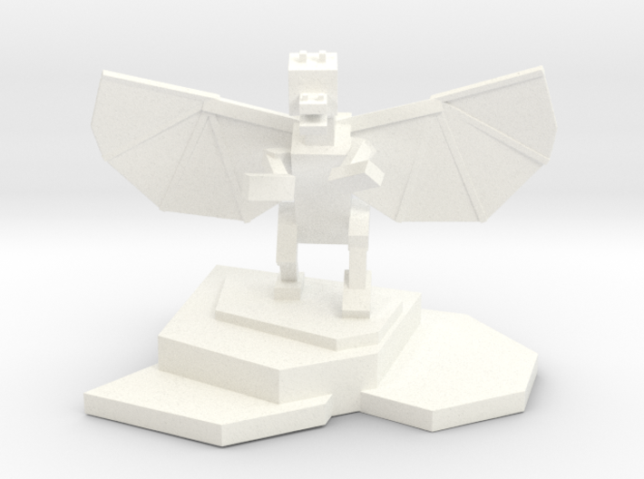 Ender Dragon Statue 3d printed White Strong & Flexible Polished
