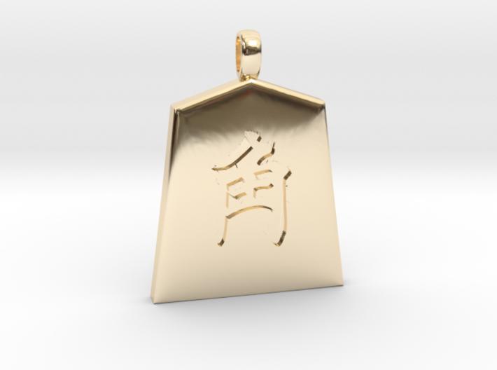 shogi (Japanese chess) piece Kaku 3d printed